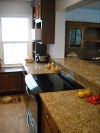 Beech cabinets, Granite countertops, Bathroom and Deck