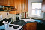 Maple Shaker cabinets, Laminate countertops