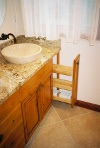 Master Bathroom Rustic Alder cabinets, Granite Countertop